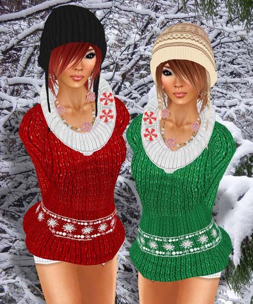 Коледни 3D момичета