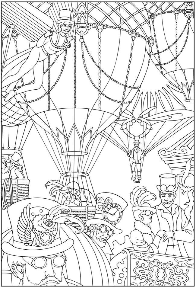 steampunk картинки за оцветяване