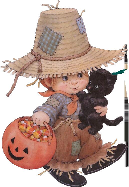 дете и черно коте, хелоуин