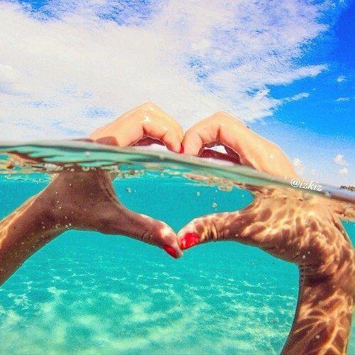 love sea heart